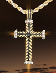JS Crux Immissa of Silver, Gold, Rhodium with hand set Swarvoski