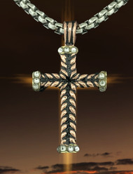JS Crux Immissa of Pure Copper with hand set Swarvoski