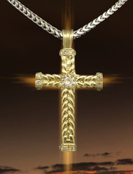 JS Crux Immissa of 14k Gold & Diamonds