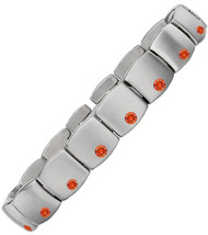 Gent's Titanium with Orange Sapphires