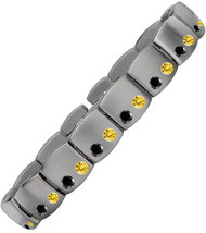 Gent's Titanium with Black Diamonds/Yellow Sapphires