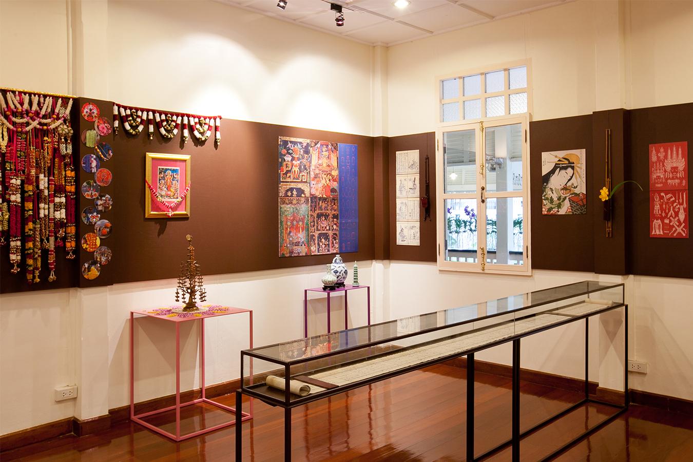 ห้องจัดแสดงในพิพิธภัณฑ์วัฒนธรรมดอกไม้