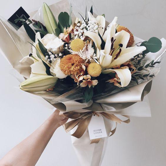ช่อดอกไม้สไตล์เกาหลีแบบที่ 9