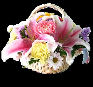 กระเช้าดอกไม้ขนาดเล็ก ขาวนวล งดงาม