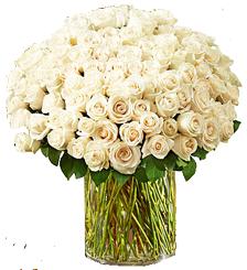 แจกันขนาดใหญ่ใส่ดอกกุหลาบสีขาว