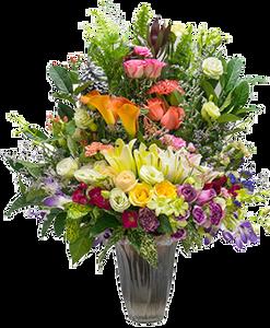 แจกันดอกไม้โทนธรรมชาติ