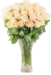 แจกันดอกไม้สด กุหลาบ 50ดอก