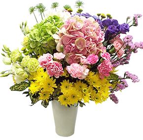 แจกันดอกไม้รวมขนาดใหญ่ หลายสี