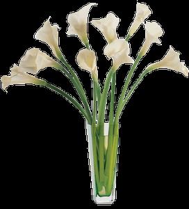 แจกันดอกลิลลี่สีขาว 10ดอก
