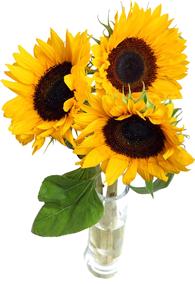 แจกันดอกทานตะวัน 3ดอก