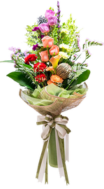 ช่อดอกไม้สีโทนธรรมชาติ
