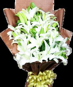 ช่อดอกลิลลี่ ขนาดใหญ่ สีขาว