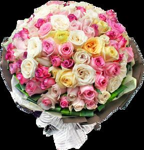 รวมดอกกุหลาบหลากสีช่อใหญ่