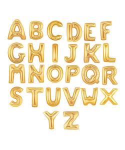 ลูกโป่งอักษรฟอยล์ 14 นิ้ว สีทอง