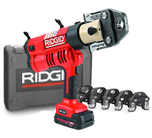"Ridgid 43373 RP 340 Corded Press Tool Kit w/Jaws (1/2""-2"")"