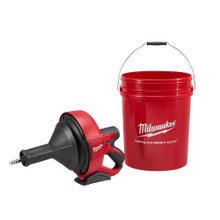 "MIlwaukee 2571-20 M12 Drain Snake 5/16""x15ft bulb cable, Storage Bucket"