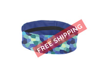 "Coolcore 2"" Reversible Headband - Pixel Ocean Blue - Virtual Soccer Exclusive"