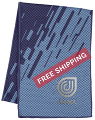 Dr. Cool Chill Sport Cooling Towel - Digi Splash Blue - Virtual Soccer Exclusive