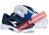 Diadora Kids Shape 7 JR Running Shoe - Navy / White