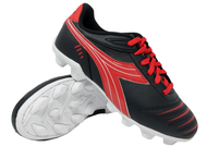 Diadora Cattura MD JR - Black / Red - Virtual Soccer Exclusive *Free Shipping*