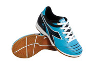 Diadora Cattura ID JR - Columbia Blue / Black - Virtual Soccer Exclusive