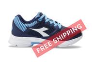 Diadora Kids Shape 9 JR Running Shoe Navy / Light Blue