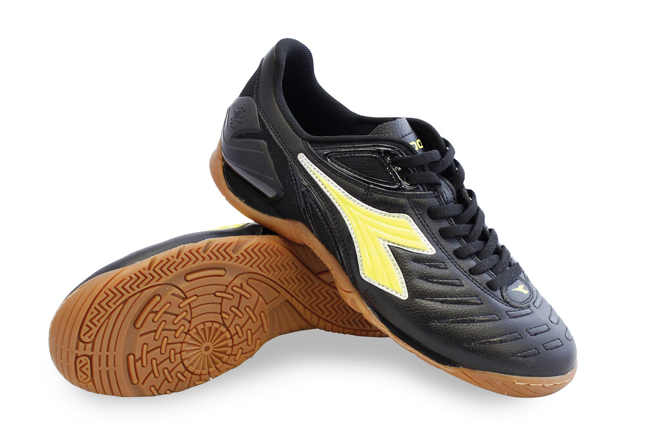 66429d4edf4 Diadora Men s Maracana 18 ID Indoor Soccer Shoe- Black   Fluo Yellow.  Price   79.99. Image 1
