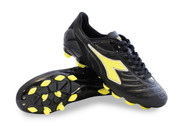 Diadora Women's Maracana 18 W MD Soccer Shoe Black / Yellow Fluo