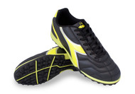 Diadora Capitano TF - Black / Yellow Fluo - Virtual Soccer Exclusive *Free Shipping*