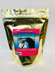 Salmon Sea Jerky is a natural, healthy joint support alternative for dogs of all sizes and ages. Salmon Sea Jerky comes in squares 15oz bag.