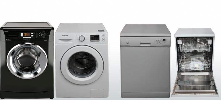 Washing Machines, Dryers, Washer Dryers, Dishwashers