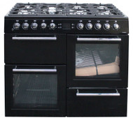 Leisure Dual Fuel Range Cooker AL100F230K 100cm in Black