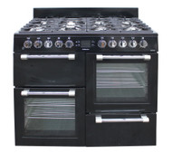 Leisure Dual fuel CK100F232K Cookmaster 100cm Range Cooker Black