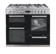 Beko KDVF100X 100 cm double oven range cooker