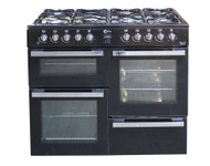 Flavel MLN10FR Dual Fuel Range Cooker 100cm Black