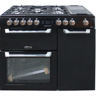 Leisure Pro Cuisinemaster PR100F530K Dual Fuel Range Cooker Black 100cm