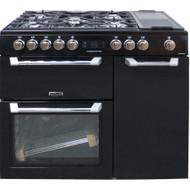 Leisure Pro Cuisinemaster PR100F530K Dual Fuel Range Cooker Black 100cm