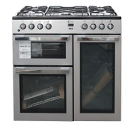 FLAVEL MLN9FRS 90 cm Dual Fuel Range Cooker Silver