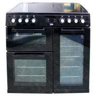 Beko KDVC90K 90cm Electric double oven range cooker  Black