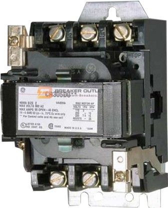 cr305c002 size-1 general electric open magnetic contactor