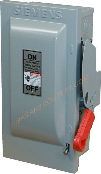 Hnf361 Non Fusible Safety Switch 30a 600v By Siemens