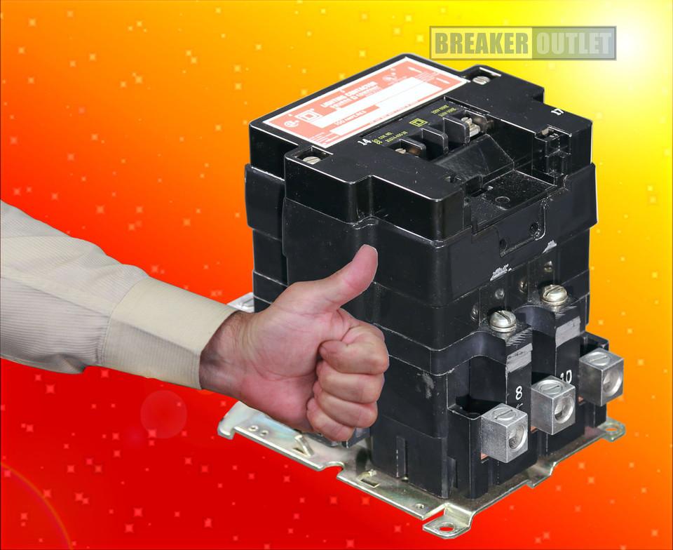 8903SQO2V08 Open Lighting Contactor 100A Square D 208V Coil