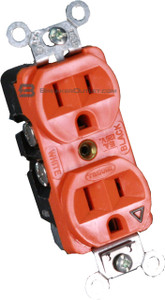 Duplex receptacle by Hubbell