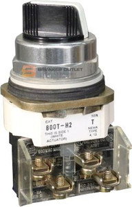 800T-H4 2 Position Spring Return Selector Switch