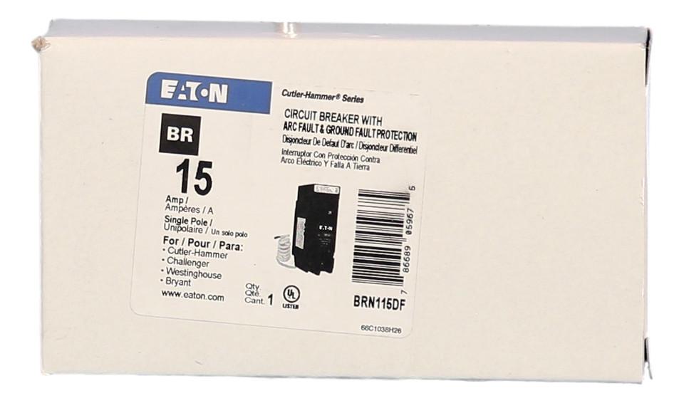 Eaton Cutler Hammer BRN115DF Type BR 15 Amp Single Pole Circuit Breaker New