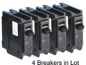 Lot of 4 Circuit Breakers C120 Sylvania