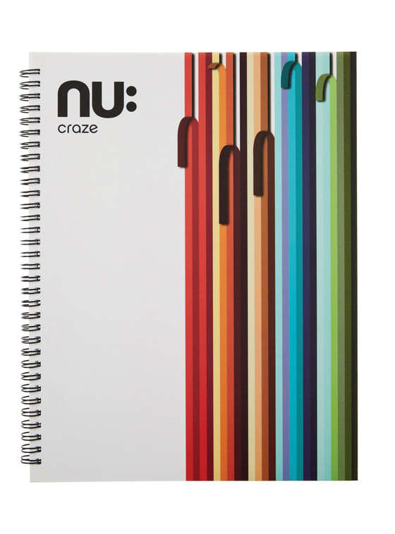 Nu Craze Peeling Stripes Hardback Notebook White