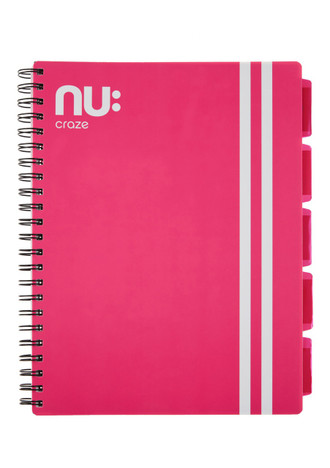 Nu Craze Varsity PP Project Book A4 Pink