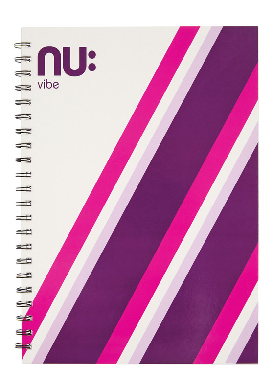 Nu Vibe Prism Card Cover Notebook Pink