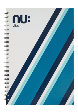 Nu Vibe Prism Card Cover Notebook Blue